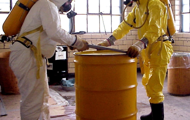 Commercial tank cleaning